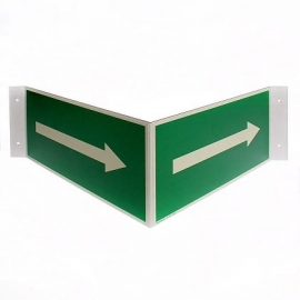 Flèche sur plaquette triangulaire pour panneau
