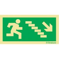 Signalisation Sortie avec escaliers en bas droite