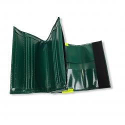 Porte-monnaie PVC vert foncé
