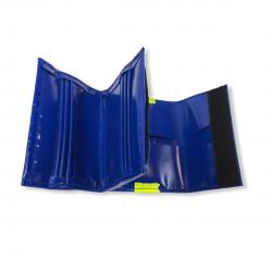 Porte-monnaie PVC bleu foncé