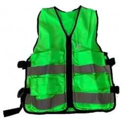 Gilet d'évacuation vert avec 4 poches, S - M