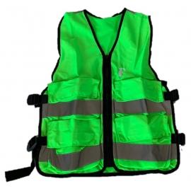 Gilet d'évacuation vert avec 4 poches, L - XL