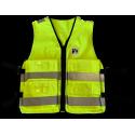 Gilet tissu jaune avec 4 poches, L - XL