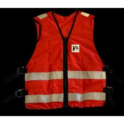 Gilet responsable évacuation rouge sans poche
