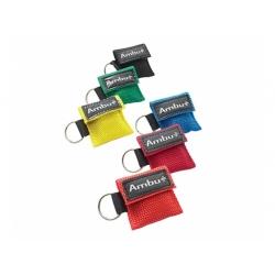 Masque de poche porte-clés ambu lifekey bleu